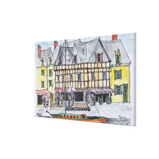 Toile Quay Franklin, Saint-Goustan   Auray, la Bretagne