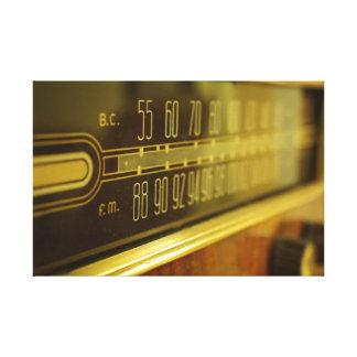 Toile Radio vintage - la lueur