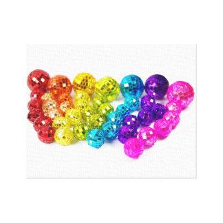 Toile Rainbow Disco Balls