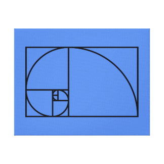 Toile Rapport d'or de Fibonacci - art mathématique