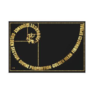 Toile Rapport d'or, spirale de Fibonacci