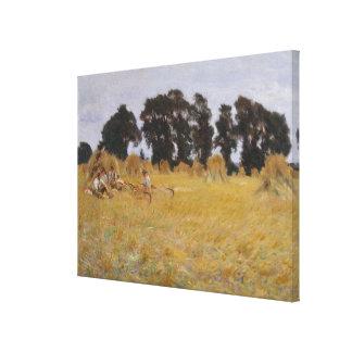 Toile Reapers se reposant dans un domaine de blé