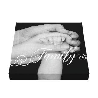 Toile Recouvrement de photo de typographie de famille