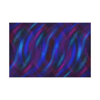 Toile Réflexions dans le bleu