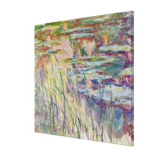 Toile Réflexions de Claude Monet | sur l'eau, 1917
