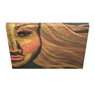 Toile Regardez dans la peinture acrylique
