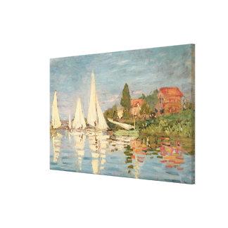 Toile Régate de Claude Monet | à Argenteuil, c.1872