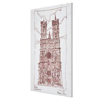 Toile Région de la cathédrale | Champagne de Reims,