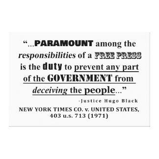 Toile Responsabilités d'une jurisprudence de PRESSE