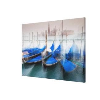 Toile Résumé des gondoles, Venise