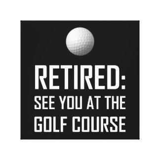 Toile Retiré voyez-vous au terrain de golf