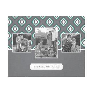 Toile Rétros photos et texte de famille tribales du