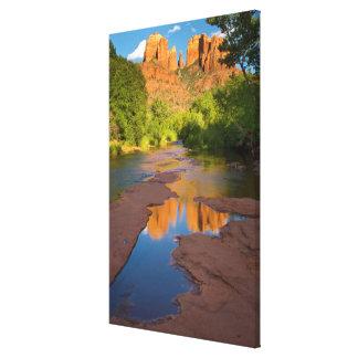 Toile Rivière au croisement rouge de roche, Arizona