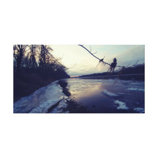 Toile Rivière congelée