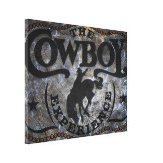 Toile rodéo de cowboy de cheval de ruée de pays