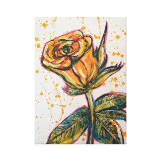 Toile 'Rose jaune