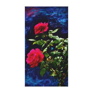 Toile Roses foncés
