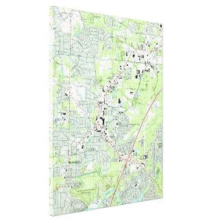 Toile Roswell la Géorgie Map (1992)