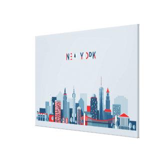 Toile Rouge, blanc et bleu de New York City  