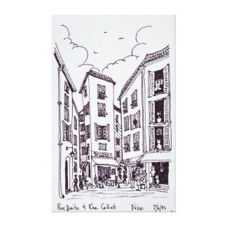 Toile Rue Droite et Nice de la bague | de rue vieux,