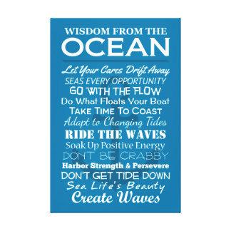 Toile Sagesse de l'océan