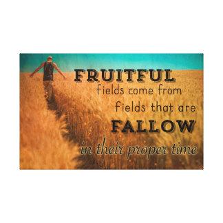 Toile Sagesse fructueuse de champ d'agriculteur