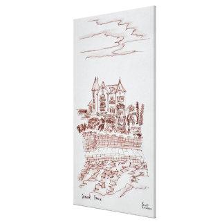 Toile Saint-Enogat historique du manoir  , Dinard, la