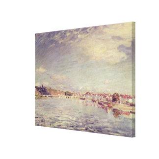 Toile Saint-Mammes d'Alfred Sisley  