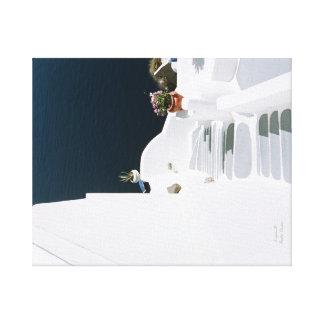 Toile Santorini grec d'île