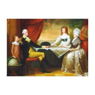 Toile Sauvage d'Edouard la famille de Washington