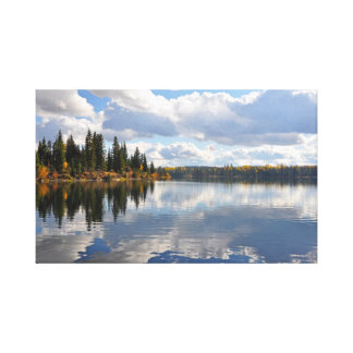 Toile Scène de lac et de forêt