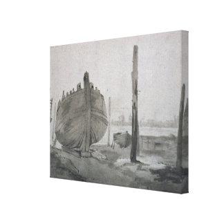 Toile Scène de rivière de John Constable | avec le