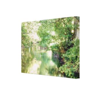 Toile Scène de rivière de la Norfolk