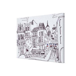 Toile Scène | Grasse, France de musée et de rue de