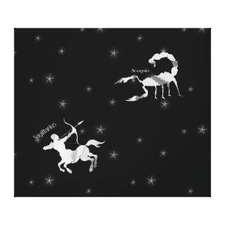 Toile Scorpion étoilé et Sagittaire de ciel