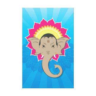 Toile Seigneur Ganesha Digital Illustration avec l'art