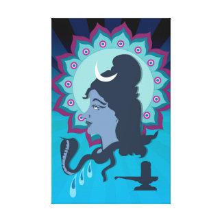 Toile Seigneur Shiva Digital Illustration avec la poule
