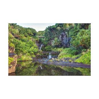 Toile Sept piscines de Maui