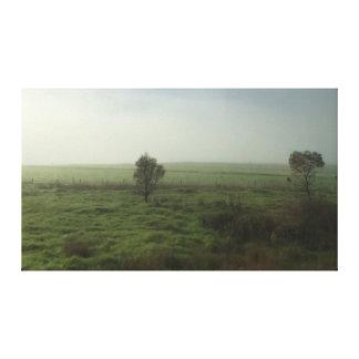 Toile Sérénité en brume de lever de soleil de matin