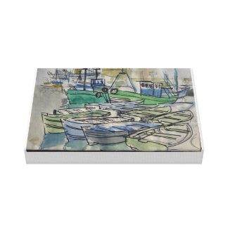 Toile Shipping in a Calm *** Peter Monamy Canvas Print