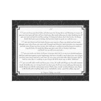 Toile Si poème par Rudyard Kipling