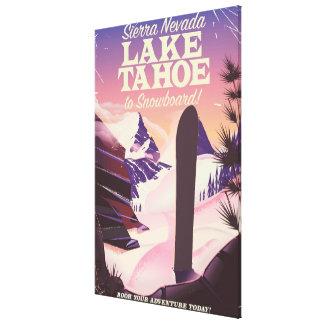 Toile Sierra Nevada Etats-Unis du lac Tahoe faisant du
