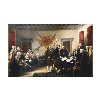 Toile Signature de la déclaration d'indépendance