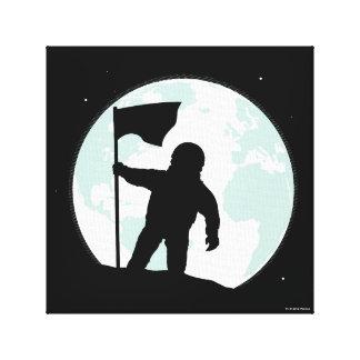 Toile Silhouette d'astronaute