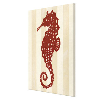 Toile Silhouette d'hippocampe