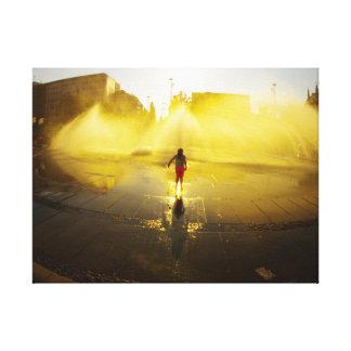 Toile Sirène à la fontaine