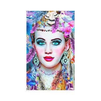 Toile Sirène gitane, art de mur, art de Fantacy, sirène