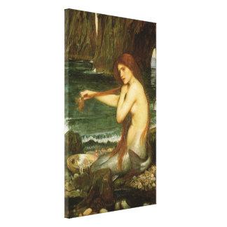 Toile Sirène par le château d'eau de JW, art victorien