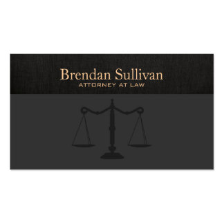 Toile sophistiquée de noir de Faux d'avocat Cartes De Visite Professionnelles
