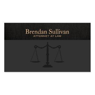 Toile sophistiquée de noir de Faux d'avocat Carte De Visite Standard